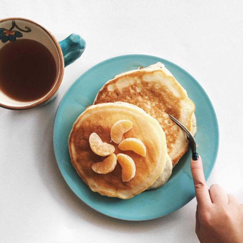 Pancakes with coffee