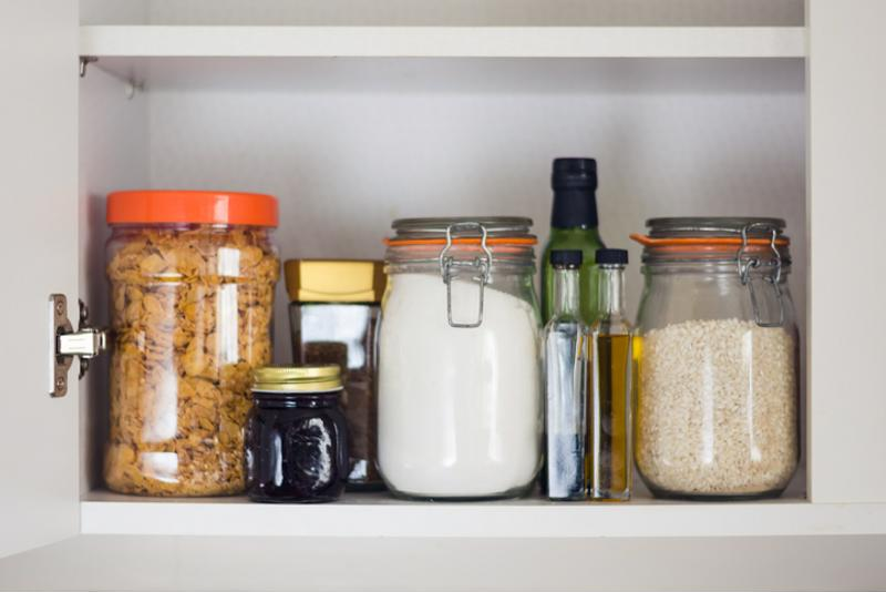 Various ingredients on a shelf