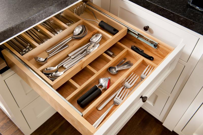 Various utensils in a draw