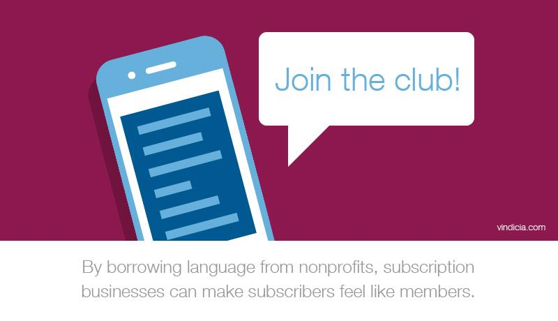 "An illustration of a phone with a message that reads,"" Join the club!"""