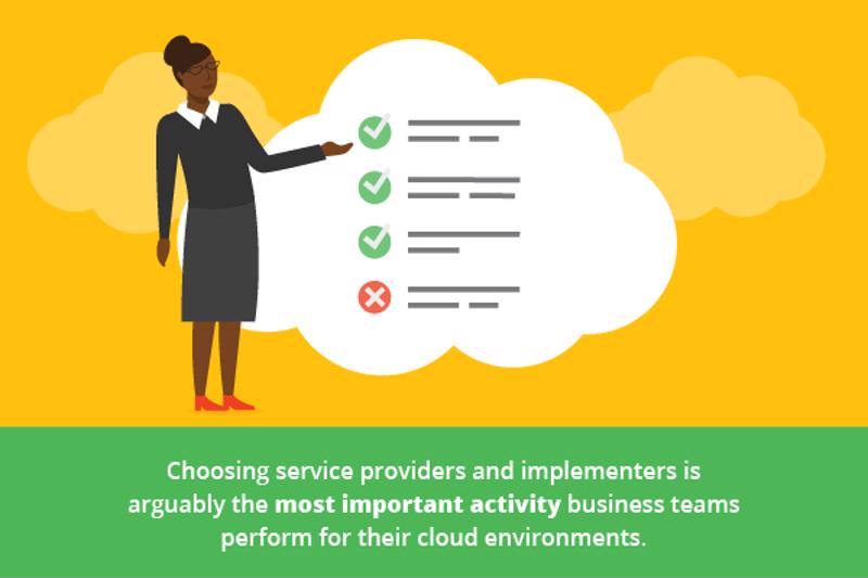 Service provider and partner selection is among the most important tasks during cloud implementation.