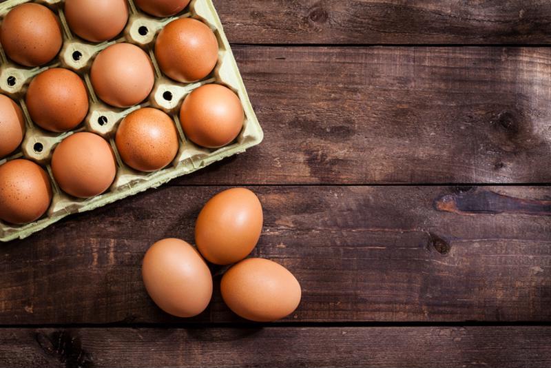 Eggs on a table