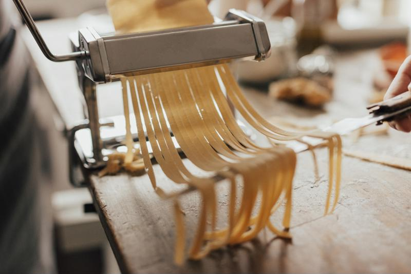 Pasta being produced