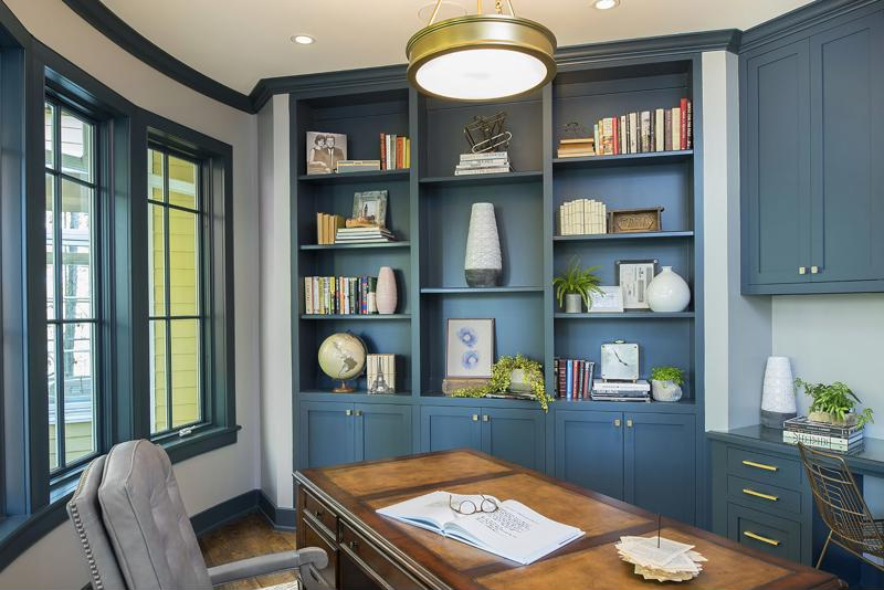 Designing a room layout with organization in mind will prevent clutter from piling up.