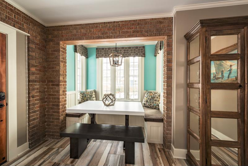 Decorating Den kitchen with brick wall