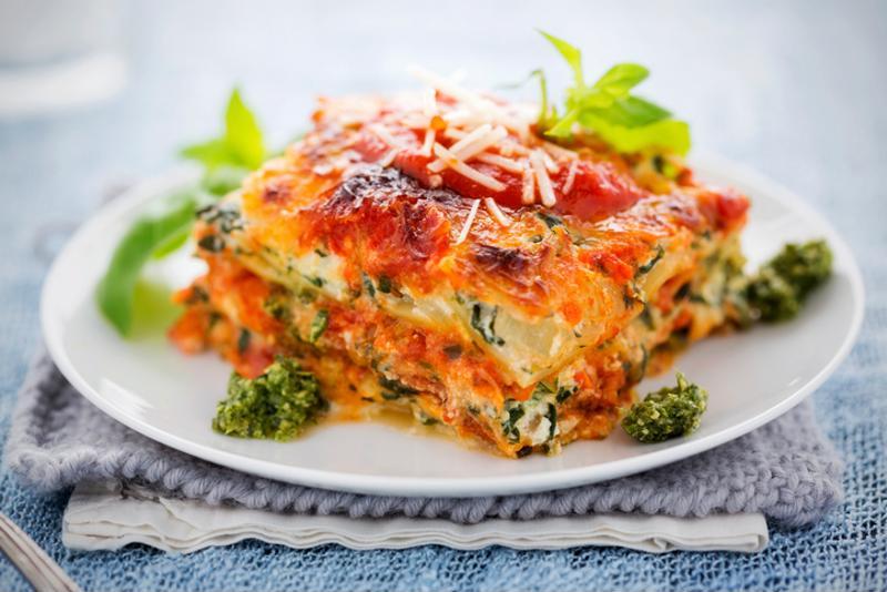 Veggie-packed lasagne