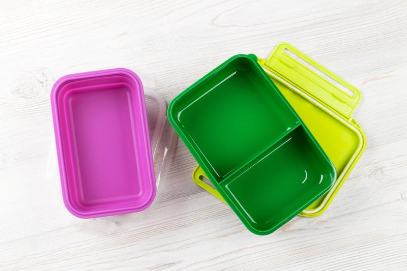 Colorful lunch boxes