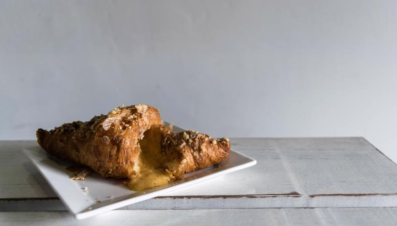 A croissant is also a vessel for sweet and savory fillings.