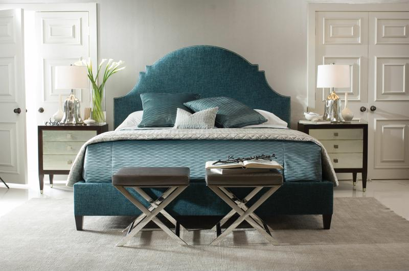 Place a bench arrangement at the foot of the bed.