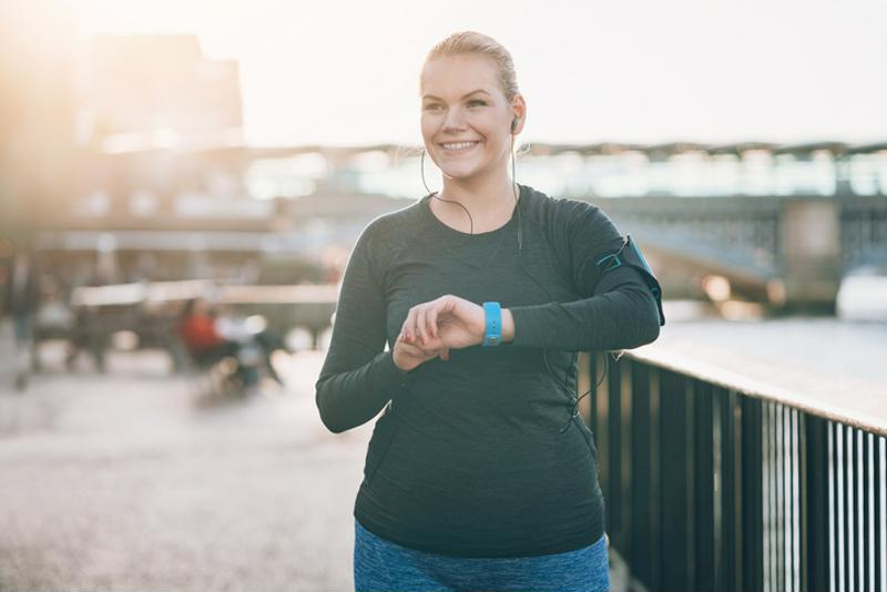 Woman on a run