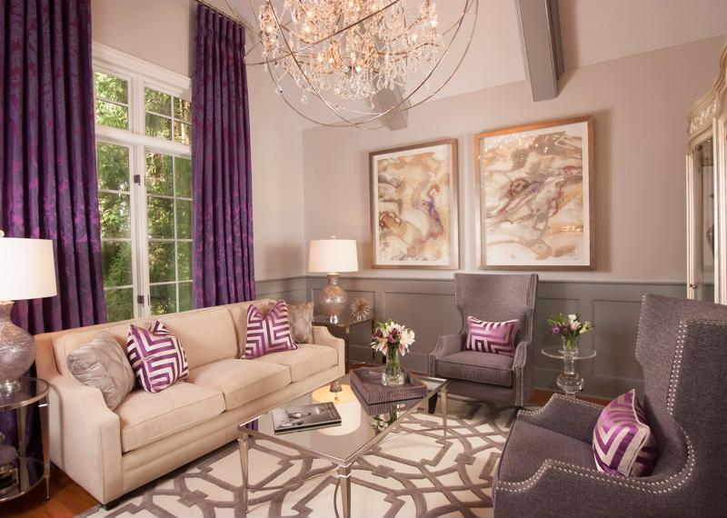 Muted purple can make a bold statement.