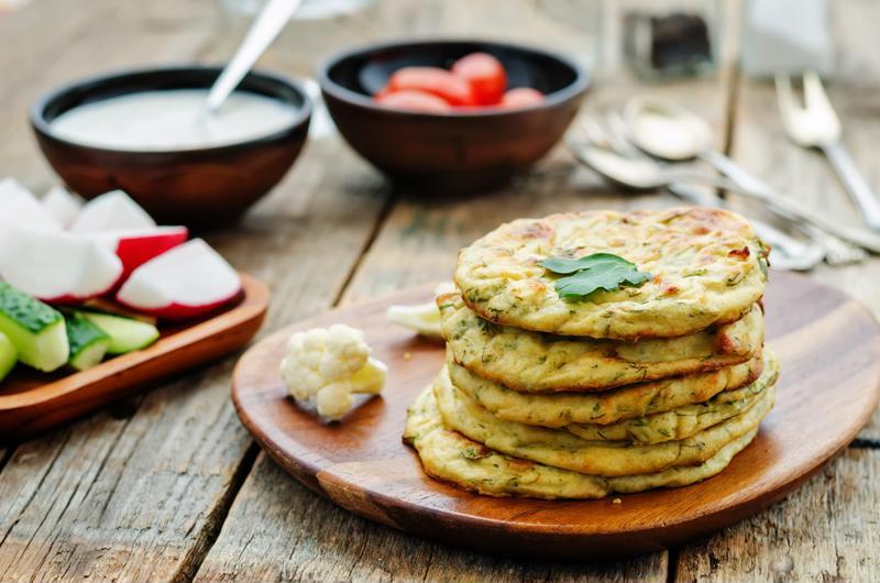 Cheesy cauliflower pancakes? Sure, why not?
