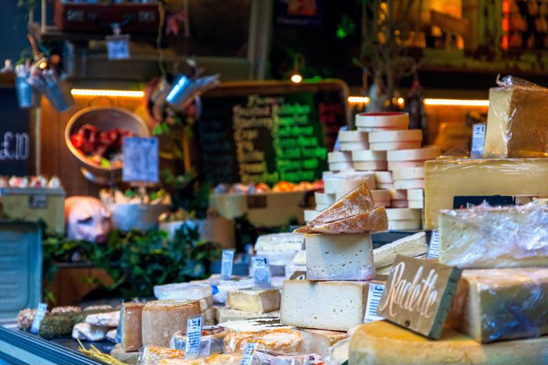 Artisan cheeses, craft brews, fresh baked goods, curious desserts and more lie in wait at a food hall near you.