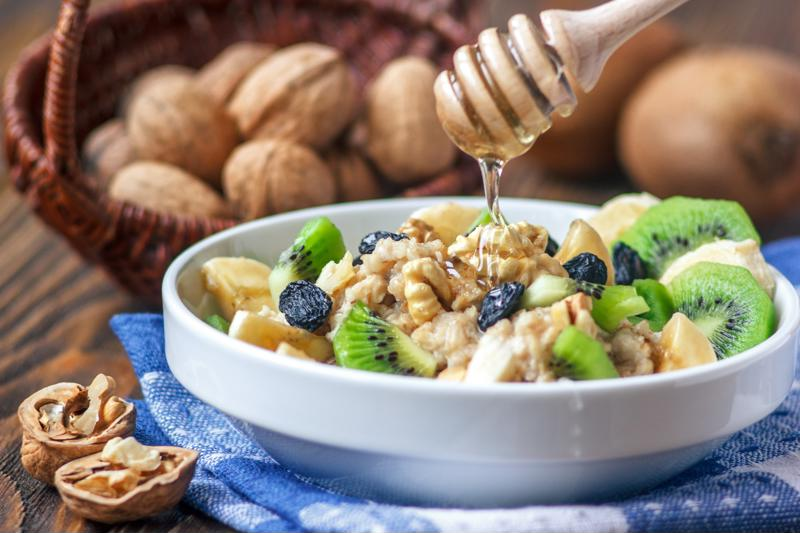 You can offer a breakfast side of oats and kiwi to offer multiple functional ingredients in one dish.