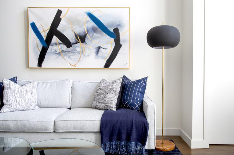 Use bold colors in artwork, accessories and accents.