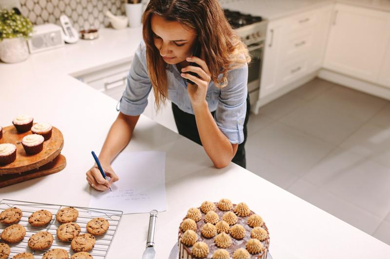 You can start an online pastry shop from your house with a phone, a computer and some baking equipment.