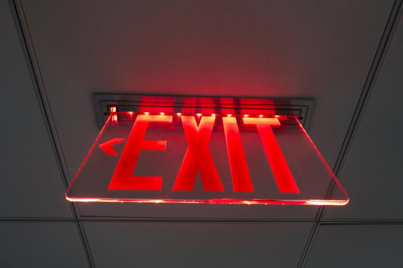 Acrylic is used in these popular exit signs.