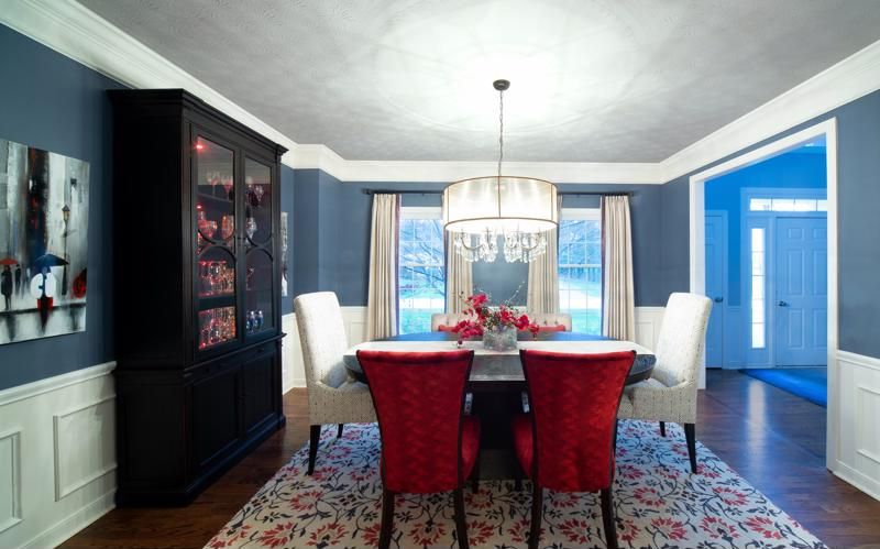Add Classic Blue to a room that is often frequented by family and friends.