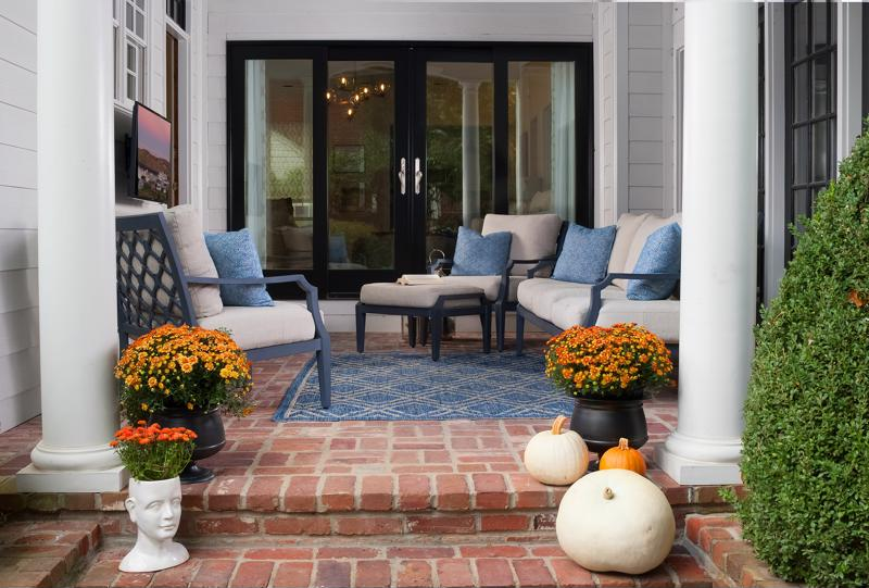 Prepare your outdoor patio with performance fabric cushions.