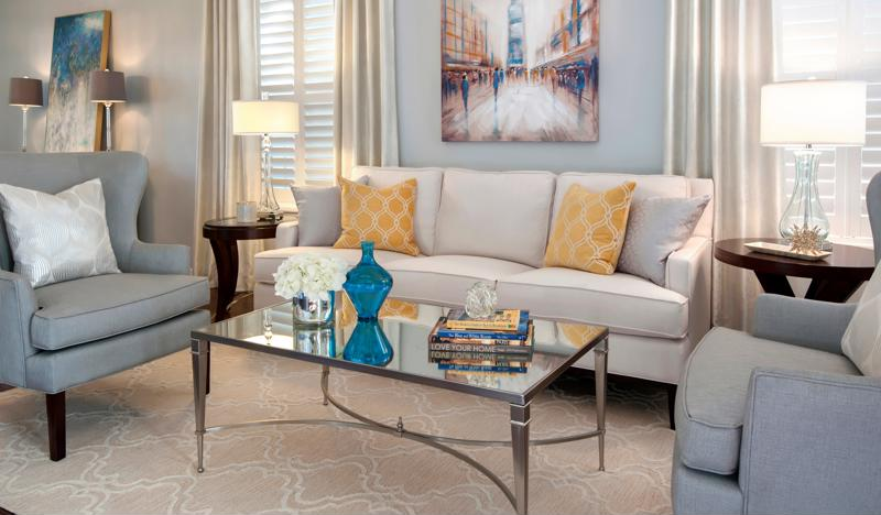 Yellow makes the perfect accent in a neutral room.