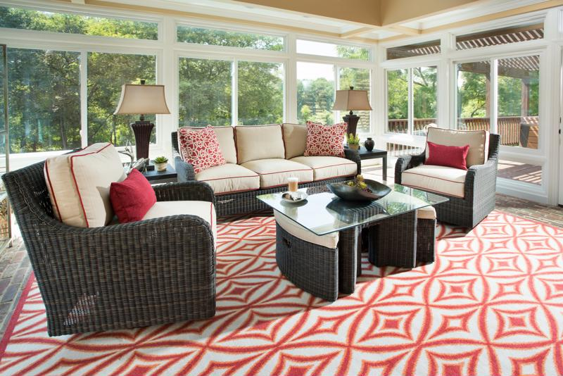 Invest in new cushions for your patio furniture.