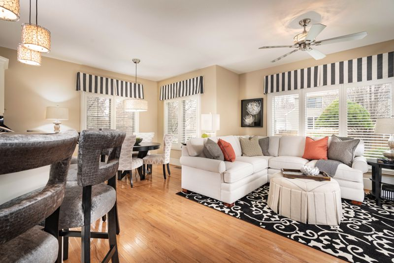Refresh your family room with a bright color scheme.