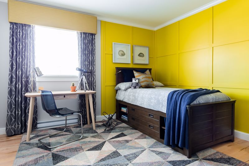 Use fun, bold colors in your kid's room.