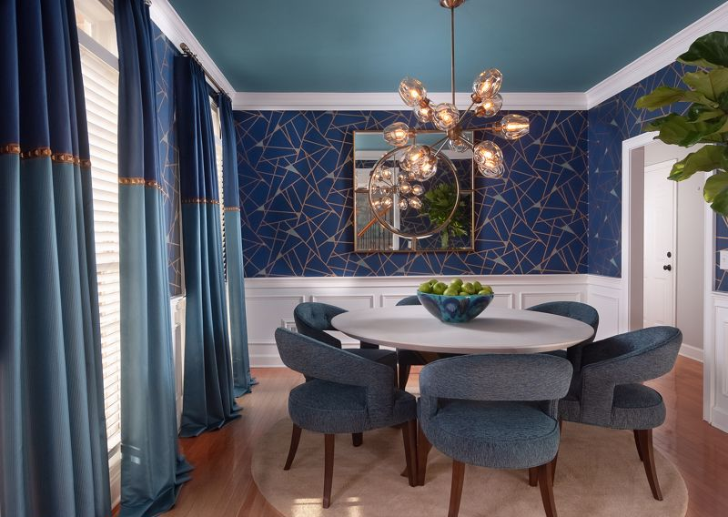 A bold and exciting wallpaper can make a huge impact.