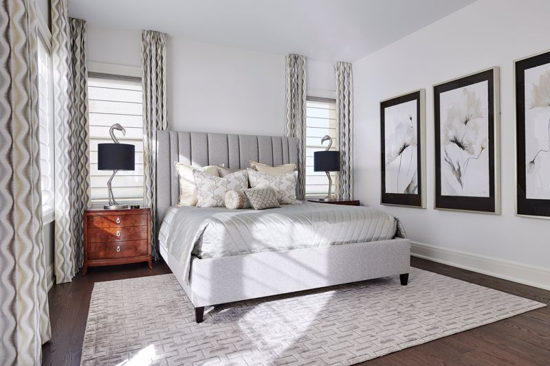 A small area rug can make the space look and feel incomplete.