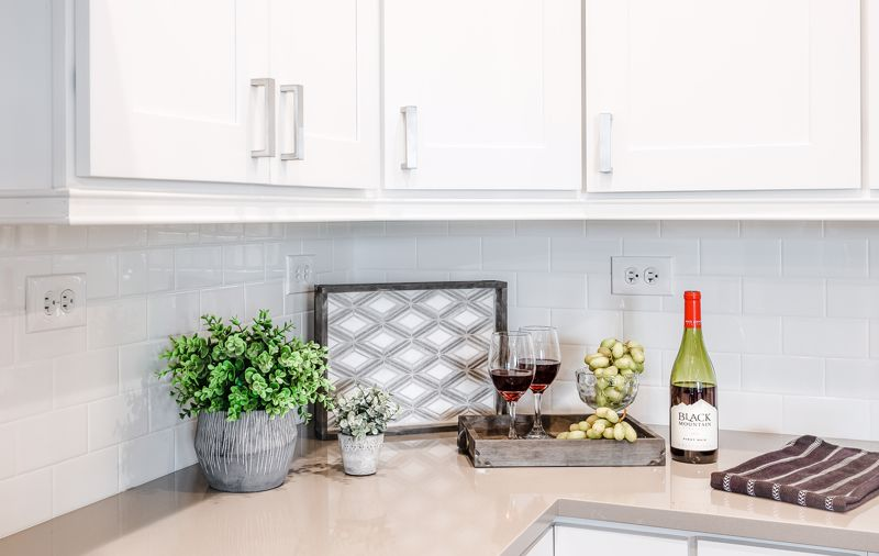 All-white cabinetry can make a bold statement in the kitchen.