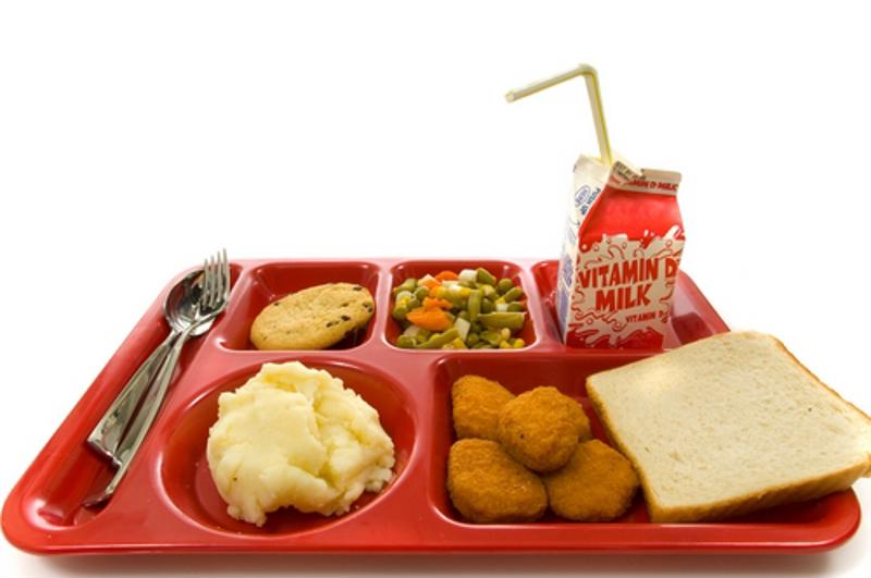 This is not what a wholesome, healthy and nutritious school lunch should look like.
